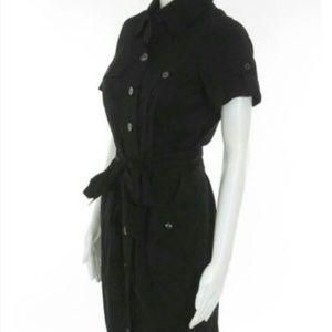 Diane VonFurstenburg Black Safari Belted Dress